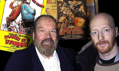 DA ØYSTEIN MØTTE BUD: Stjernemøte under Berlin Film Festival i 2004 mellom Bud Spencer og Øystein Simonsen. Foto: Privat