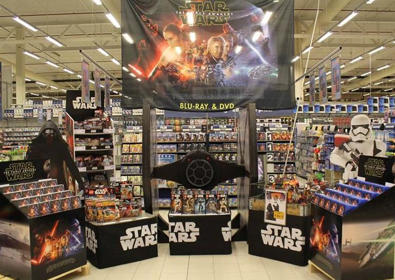 Star Wars: The Force Awakens-utstilling hos OBS Sørlandsenteret. Foto: Disney