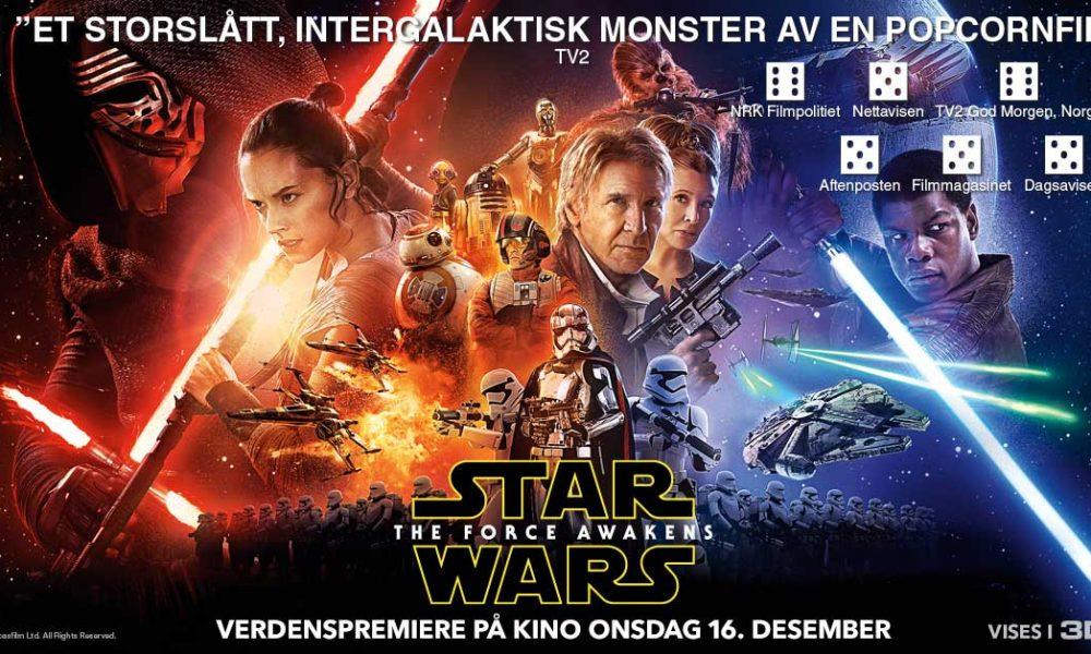 Norsk Star Wars: The Force Awakens-reklameplakat. Foto: Disney/Lucasfilm