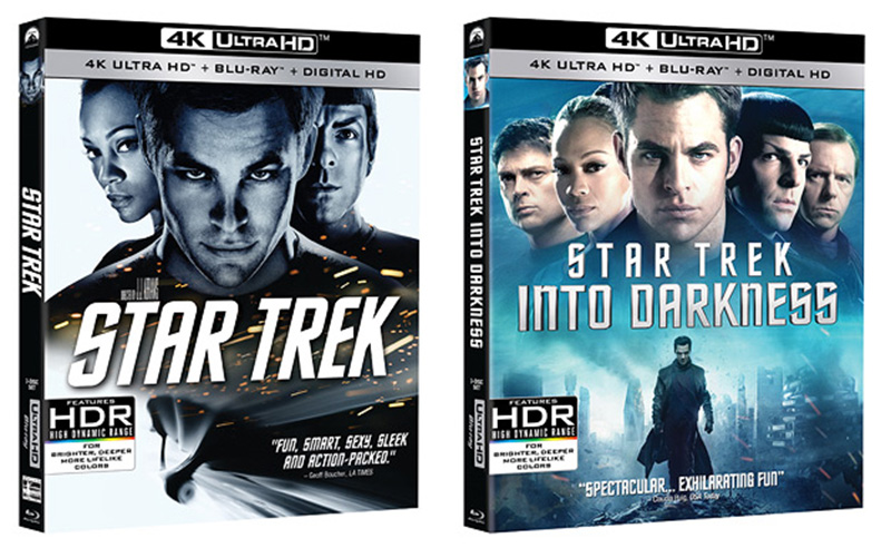 4K ULTRA HD: Star Trek (2009) og Star Trek Into Darkness (2013).