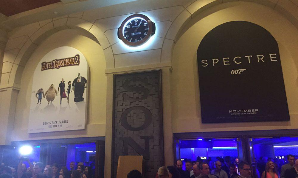 The Colosseum i Caesars Palace i Las Vegas pyntet foran Sony Pictures presentasjon. Foto: John Berge