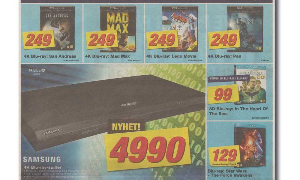 I kundeavisen for uke 17 (25. april – 1. mai) har Elkjøp fokus på Ultra HD Blu-ray.