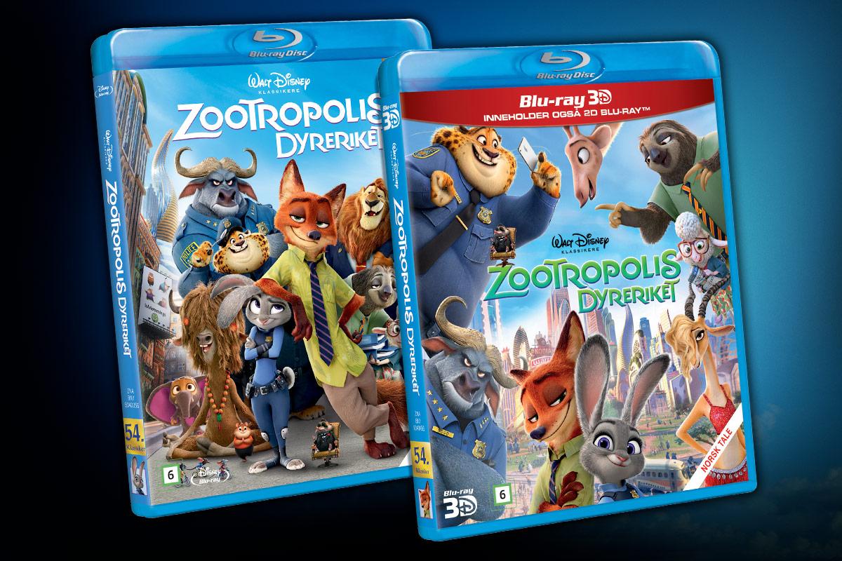 Zootropolis ble lansert som Blu-ray 3D, Blu-ray og DVD 4. juli 2016.