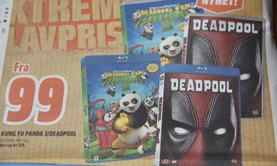 Kung Fu Panda 3 og Deadpool i Coop Obs' reklamebrosjyre.