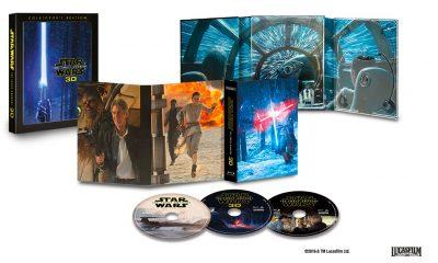 3-disc Blu-ray 3D-utgaven av Star Wars: The Force Awakens – «in all it's glory». Foto: Lucasfilm / Disney