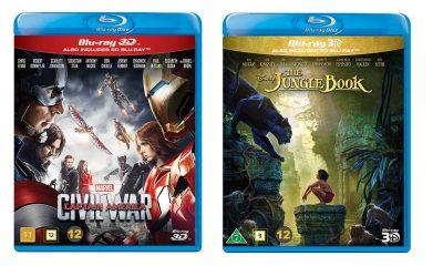 Captain America: Civil War og The Jungle Book er lansert på Blu-ray 3D