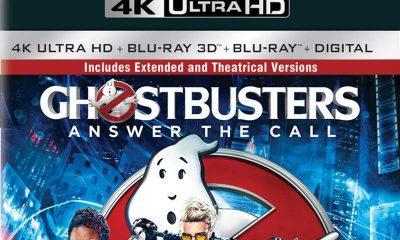 Utdrag av det amerikanske omslaget på Ghostbusters: Answer the Call — Extended Edition 4K UHD.