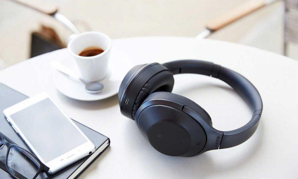 MDR-1000X er Sonys nye  flaggskip innenfor støykansellerende hodetelefoner. Foto: Sony