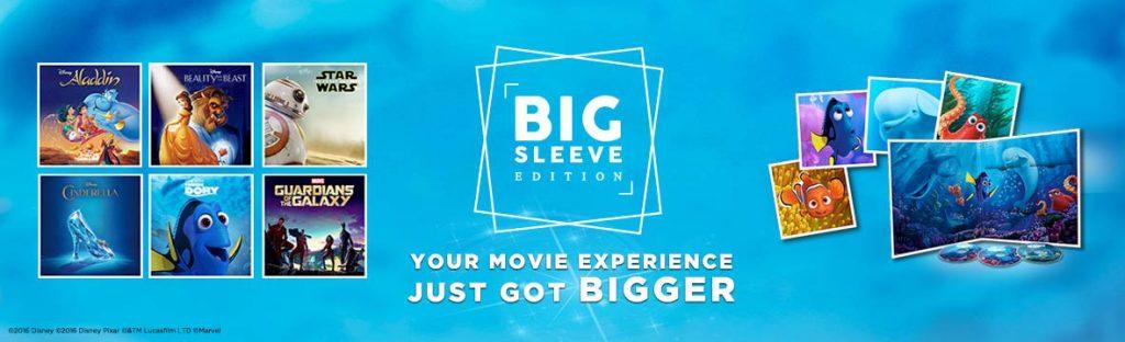 Big Sleeve Editions: Blu-ray-filmer fra Disney i stor emballasje – tolv tommer.