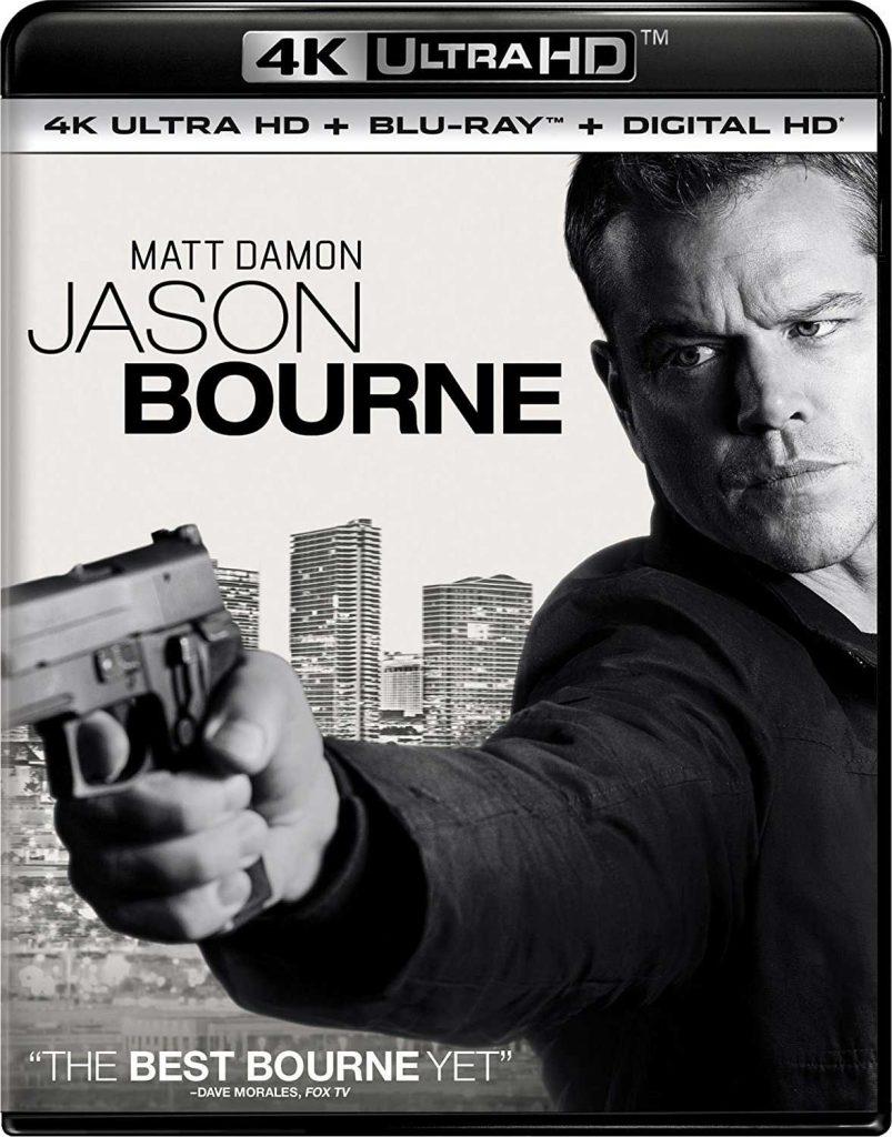 UHD-omslag: Jason Bourne (2016).