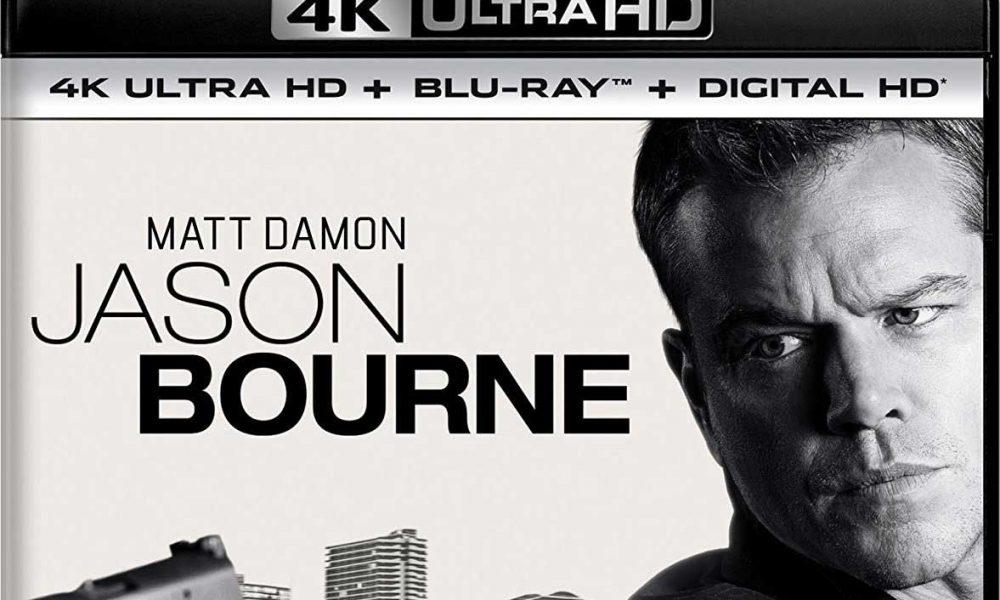 Deler av omslaget på UHD-utgaven av Jason Bourne (2016).