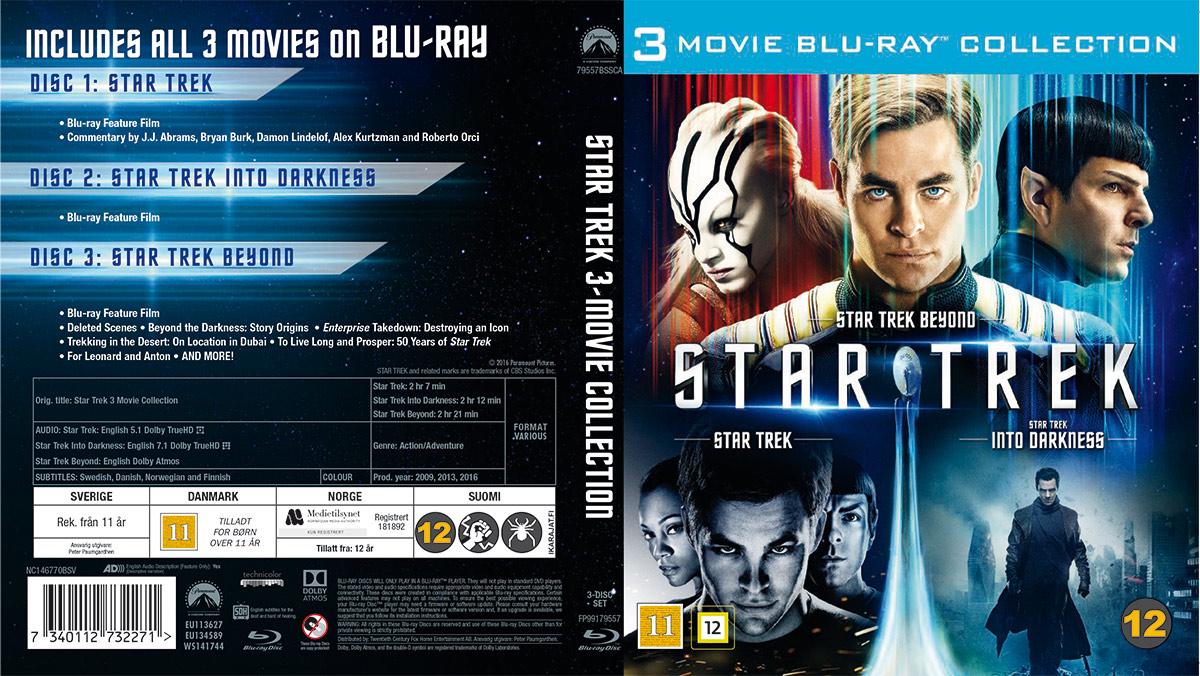 Samleboks med alle de tre nye Star Trek-filmene.