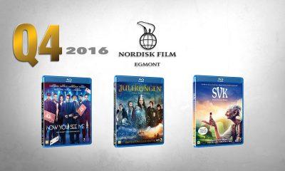 Now You See Me  2, Julekongen – Full rustning og SVK – Store vennlige kjempe er tre av hovedtitlene fra Nordisk Film Distribusjon før julen 2016. Montasje: Per Mork, VIDEOMAGASINET.no. Foto: Nordisk Film Distribusjon