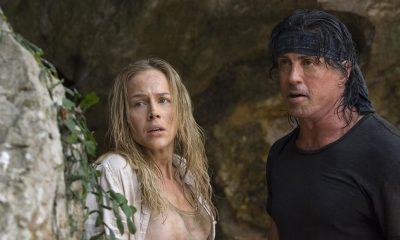 VELKJENT KARAKTER: Sylvester Stallone (t.v.) har gjort stor suksess som Rambo. Her i Rambo (2008) sammen med  Sarah Miller.