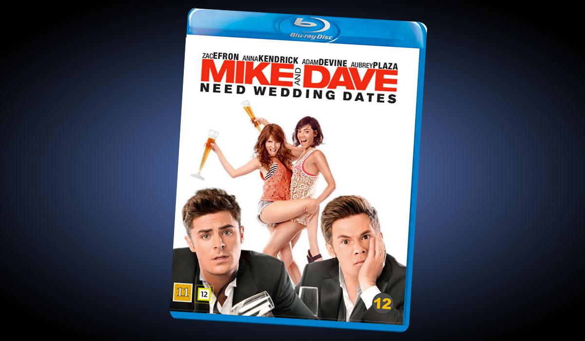 I Mike and Dave Needs Wedding Dates spiller Zac Efron rollen som Dave Strangle, broren til Mike (Adam DeVine).