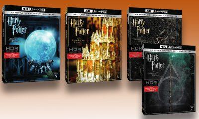 Harry Potter-filmer på UHD i 2017. De fire første er de fire siste i filmserien.