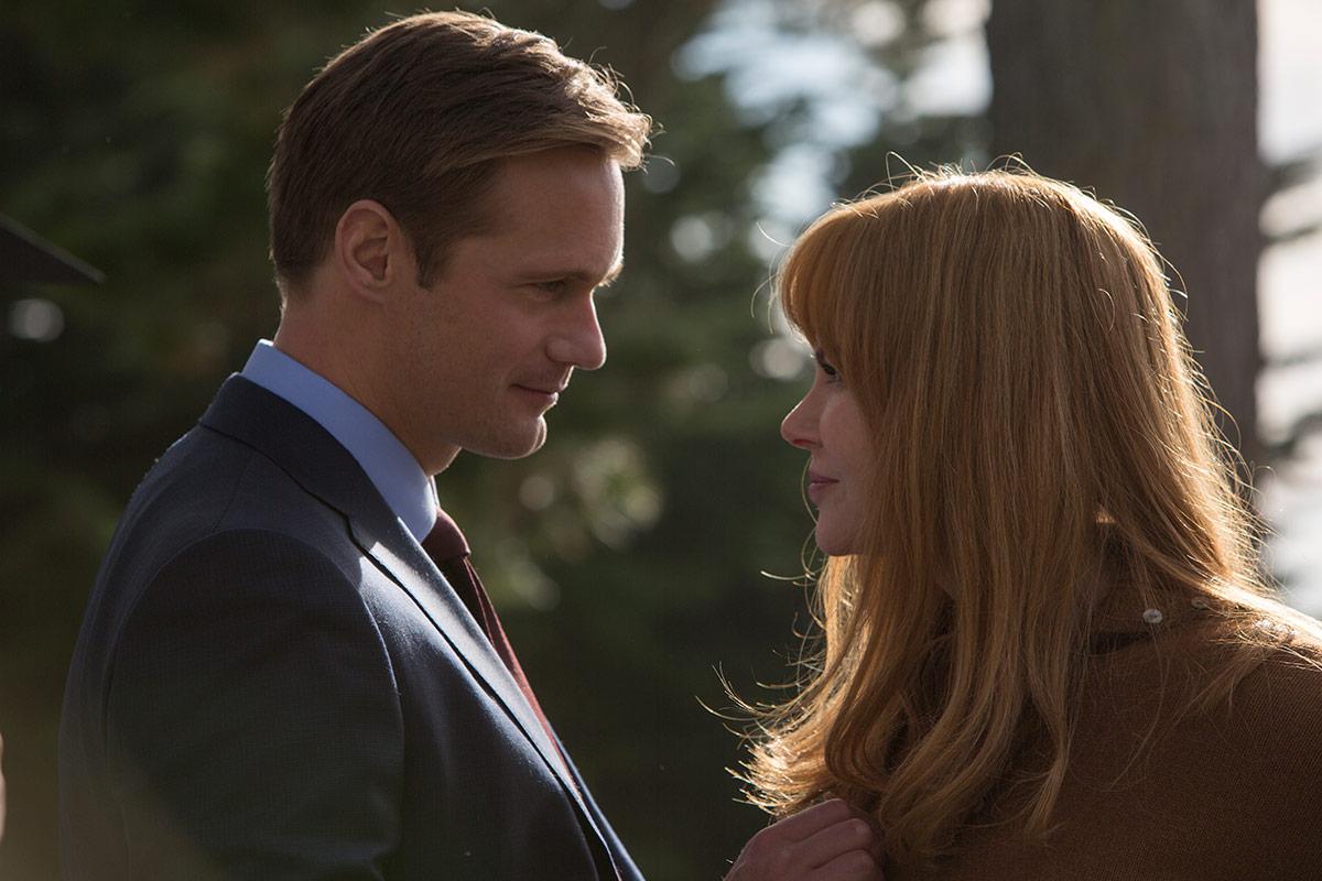 Alexander Skarsgård som Perry Wright og Nicole Kidman som Celeste Wright. Foto: HBO