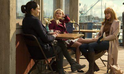 TRIO: Shailene Woodley som Jane Chapman, Reese Witherspoon asom Madeline Martha Mackenzie og Nicole Kidman som Celeste Wright. Foto: HBO