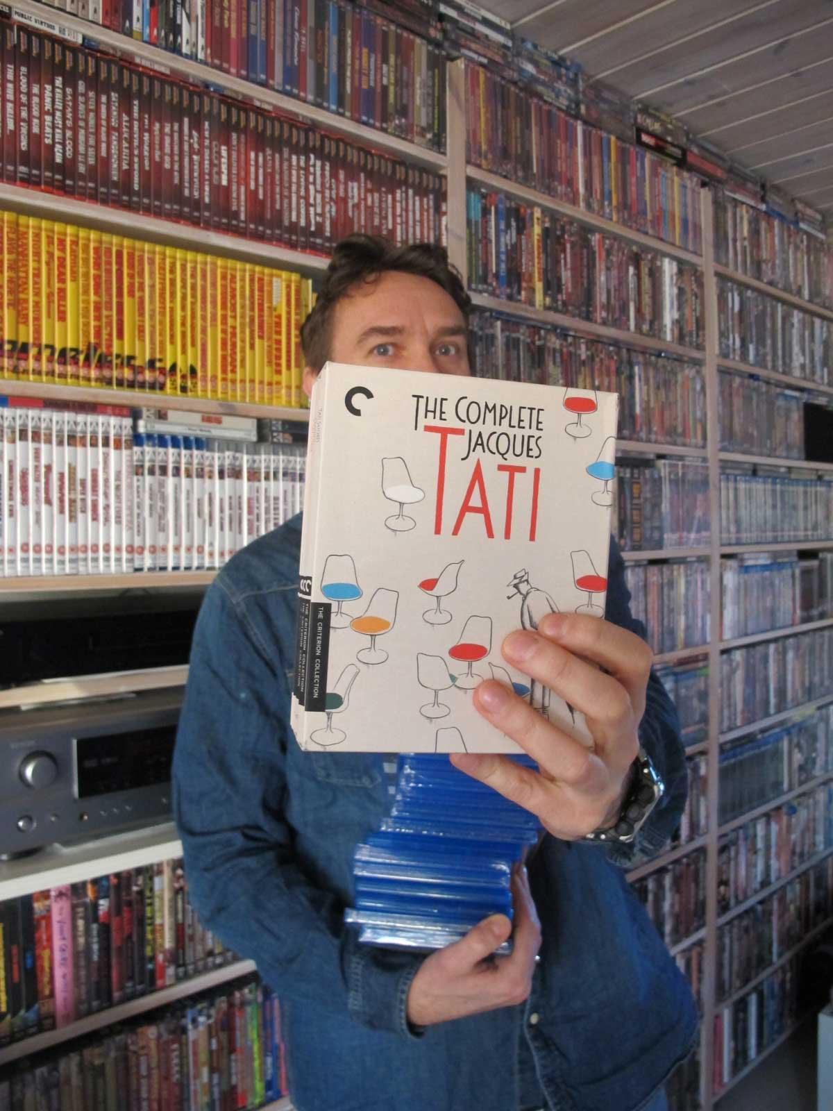 Criterions Jaques Tati-samling på Blu-ray er en av Martin Hauges favoritter i samlingen. Foto: Privat