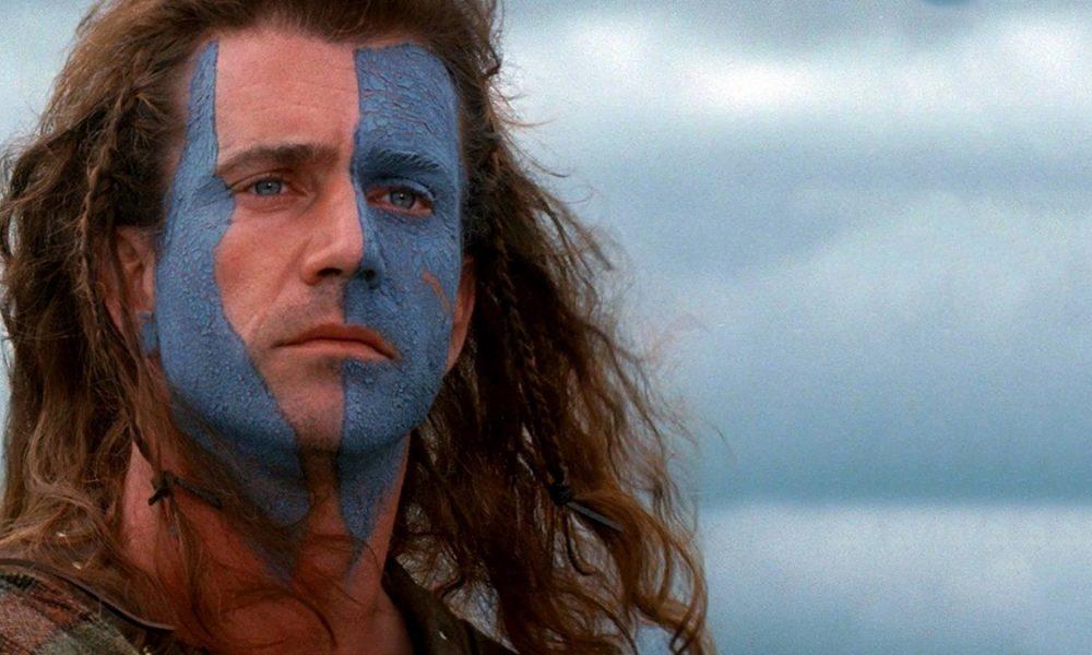 Mel Gibson som William Wallace i Braveheart.