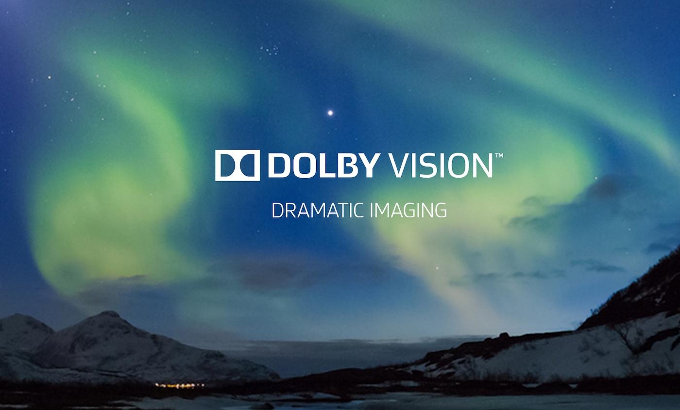 Reklamebilde for Dolby Vision benytter seg av nordlyset. Foto: Dolby Labs.
