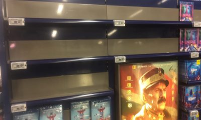 UTSOLGT: Bare en eneste DVD-utgave igjen av Kongens nei da VIDEOMAGASINET besøkte Coop Obs! Vinterbro. Foto: John Berge, VIDEOMAGASINET.no ©