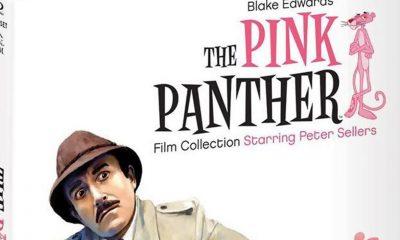 Utsnitt fra omslaget på The Pink Panther Blu-ray Film Collection.