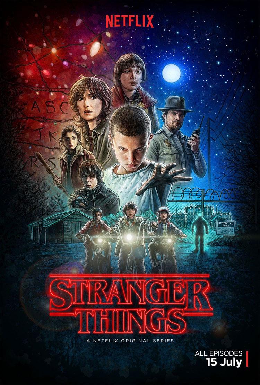 Stranger Things hadde Netflix-premiere 15. juli 2016, med åtte episoder.